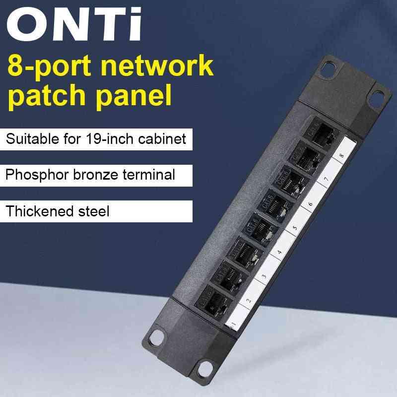 Patch Panel Rj45 Network Cable Adapter Jack Ethernet Distribution Frame