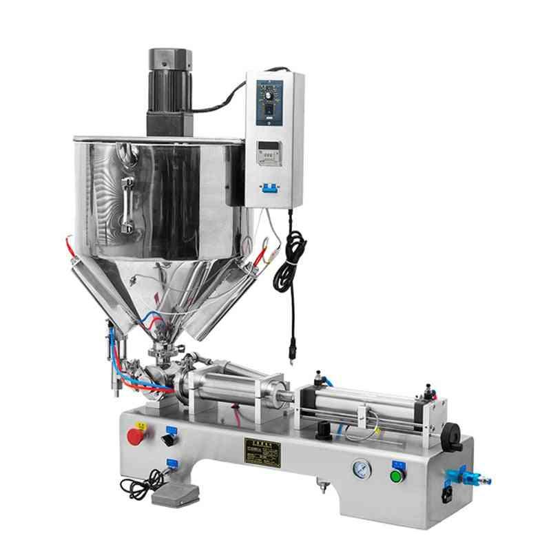 Horizontal Stainless Steel Paste Liquid Filling Machine, Peanut Butter, Honey Cream, Emulsion Heating Stir Type Fillings Machines