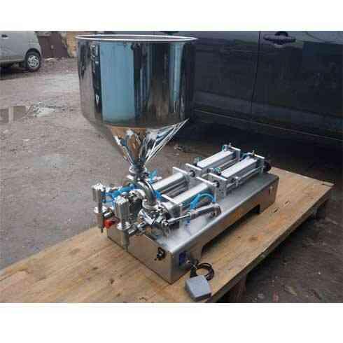 Food Paste Filling Machine, Double Nozzle, Large Hopper, Quantitative Packaging Equipment