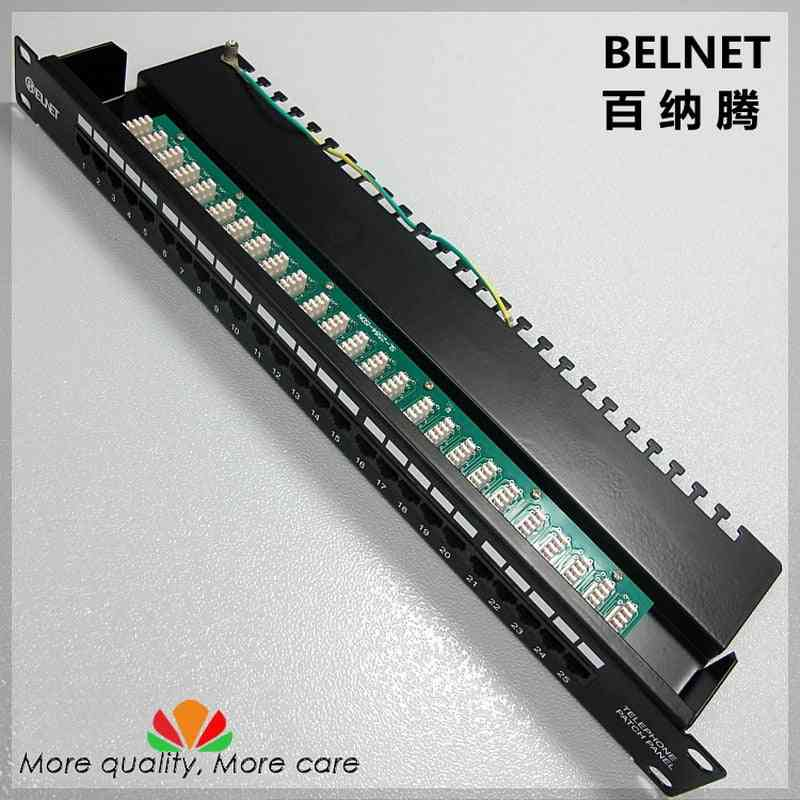 25-ports Telephone Voice Patch Panel 19-inch, Patch Panel Distribution Frame