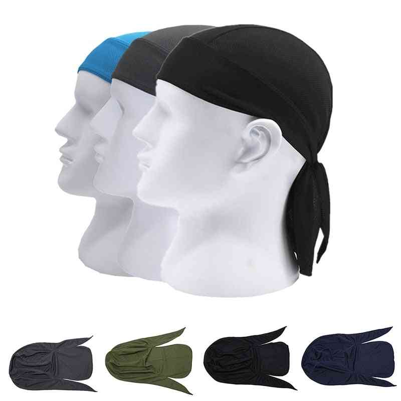Men Summer Quick Dry Pure Cycling Cap, Running Riding Hood Headband