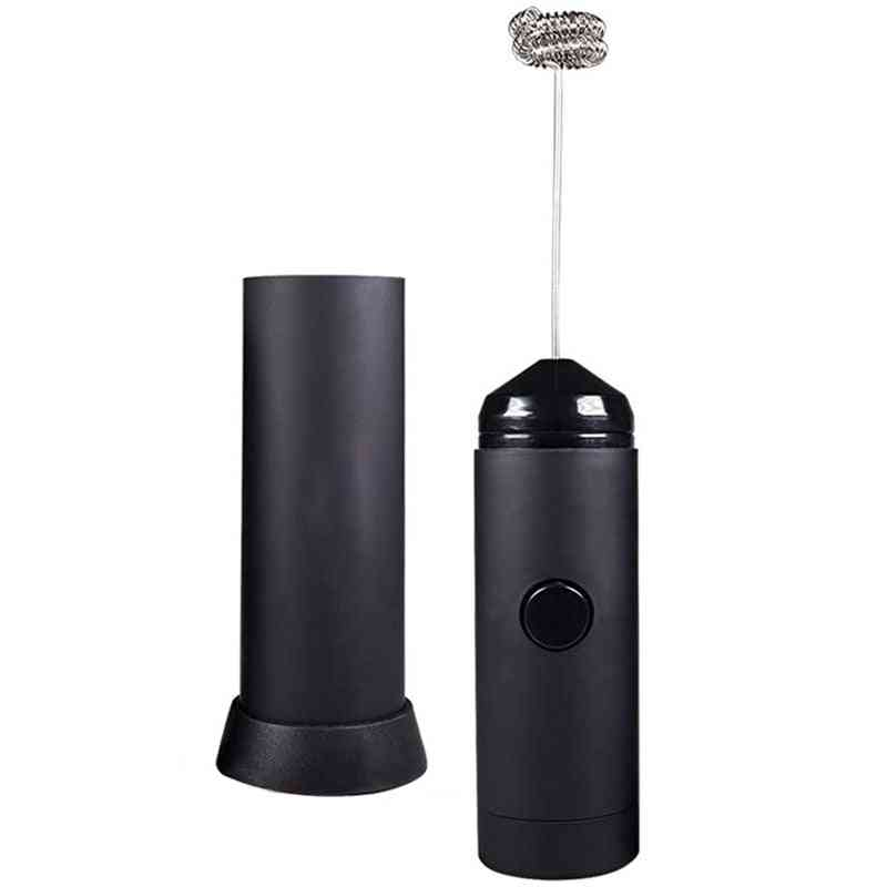 Mini Handheld Milk Frother - Battery Operated, Electric Foam Maker | Includes Kitchen Stand, Latte Hot Milk Eggbeater