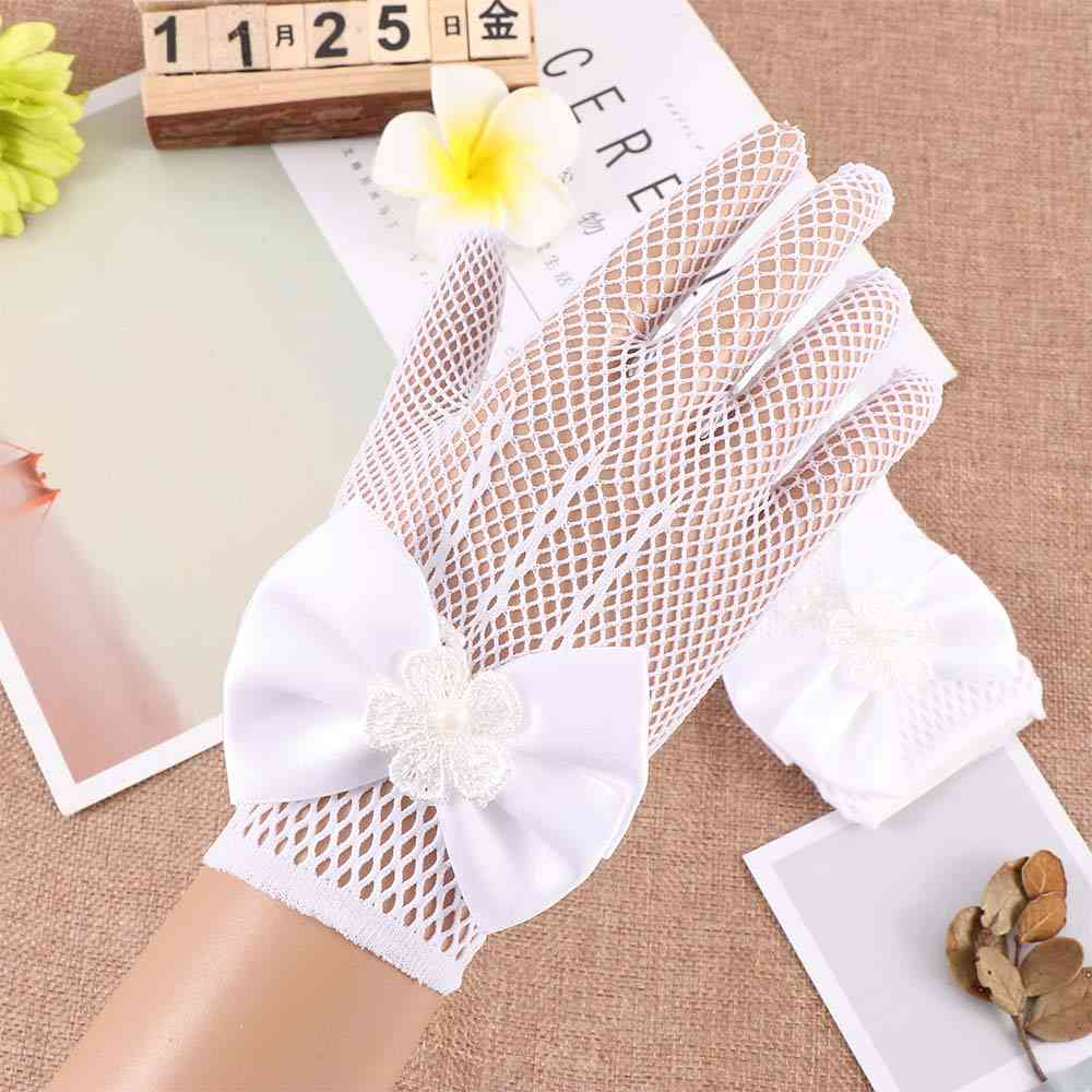 Flower Girl Dress Costume Gloves