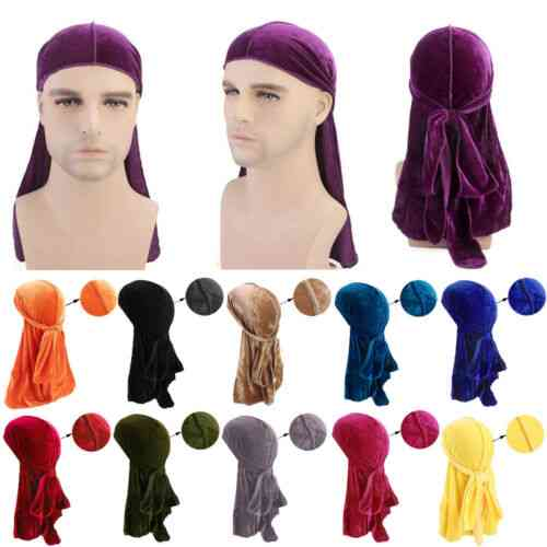 Men's Satin Turban Wigs Pirate Hat Headband