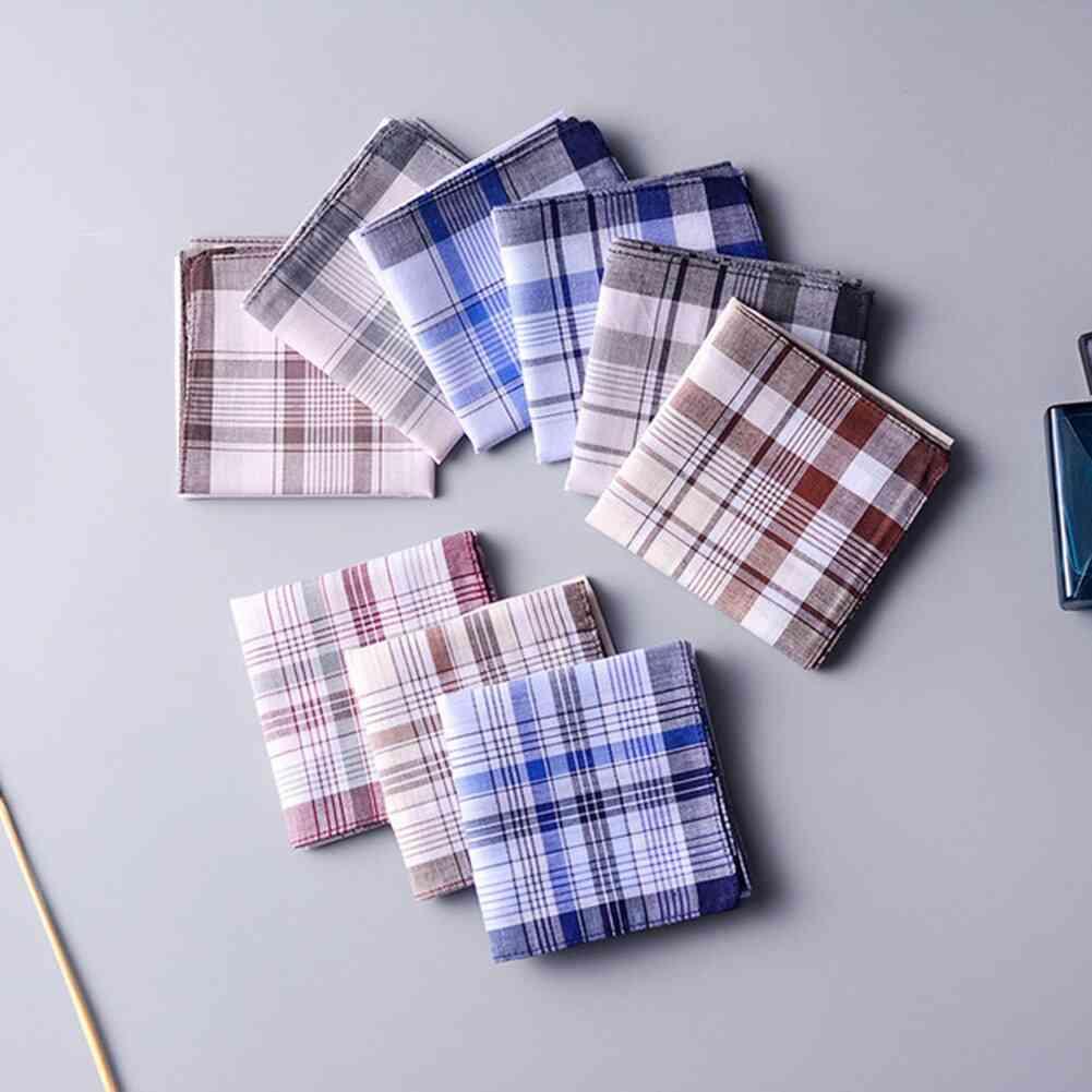 Square Plaid Stripe Handkerchief