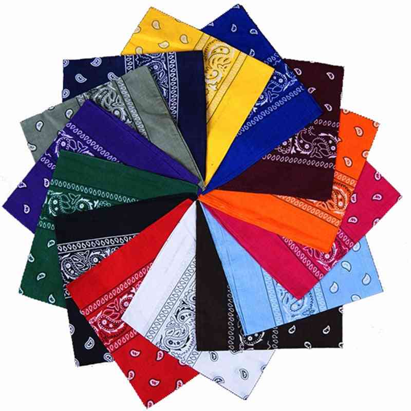 Square Fashion Print Bandana Cotton Paisley Head Wrap Neck Scarf