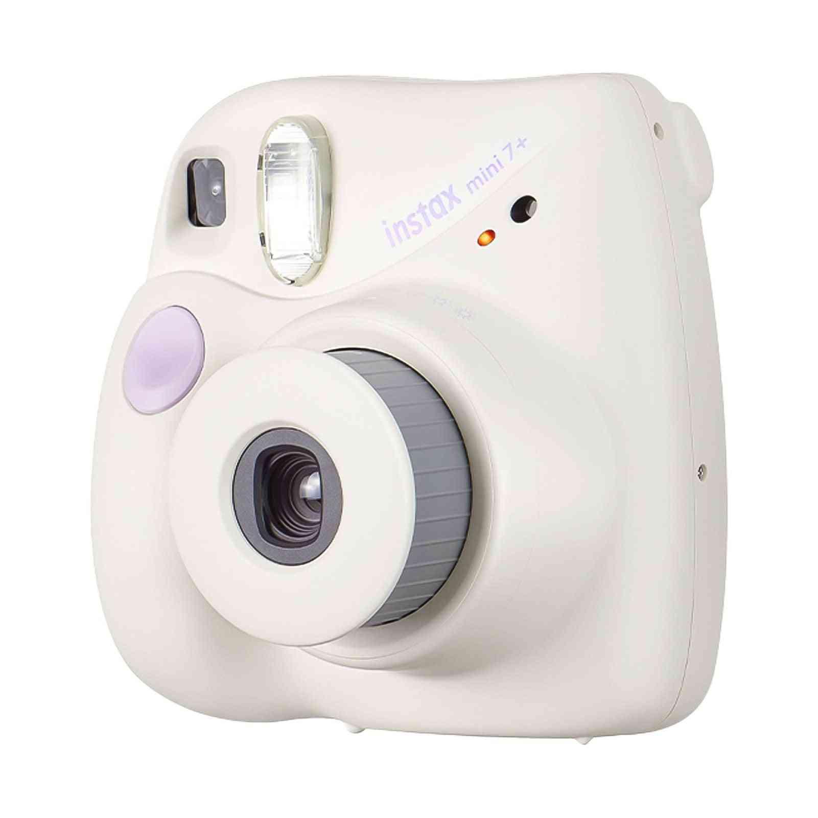 Instax Mini 7+ Instant Camera Film Cam Auto-focusing With Wrist Strap Birthday Christmas Festival For Kid