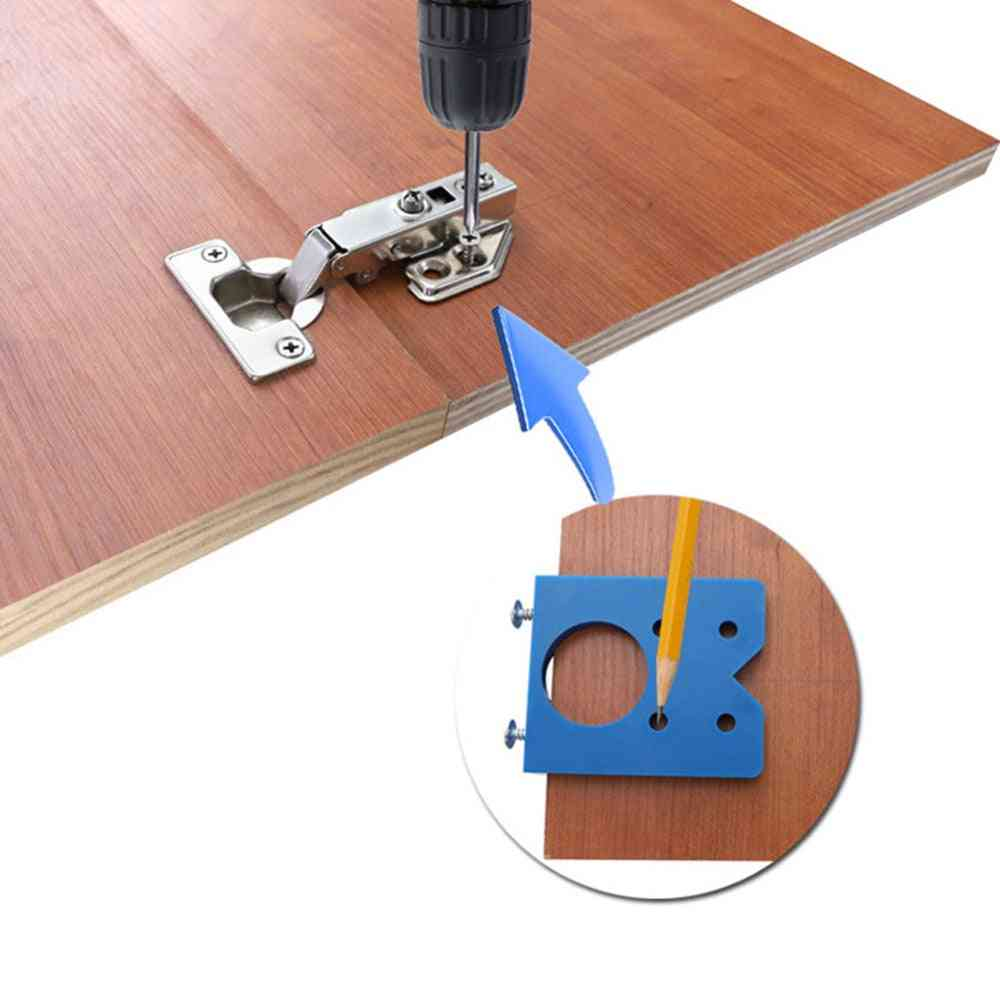 35mm Hinge Jig Hole Saw Installation Wood Drill Guide