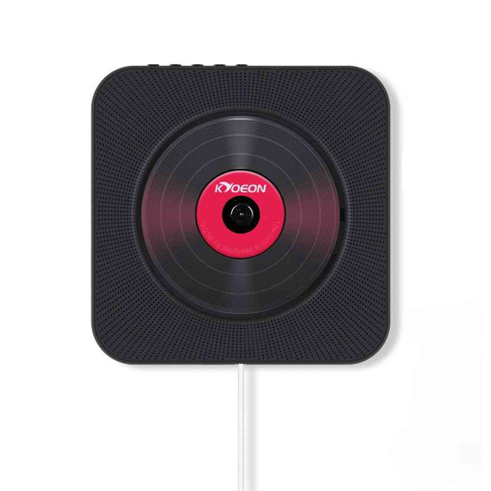 Portable Cd Player Wall-mounted Bluetooth Home Audio Usb Mp3 Music Player Remote Control Surround Sound Fm Radio Stereo Speaker