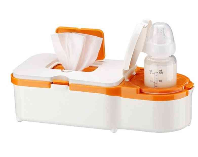 Home And Car Dual Purpose Electric Wet Towel Dispenser, Baby Wipes, Heater Milk Bottle, Warmer Wipe Box For Winter