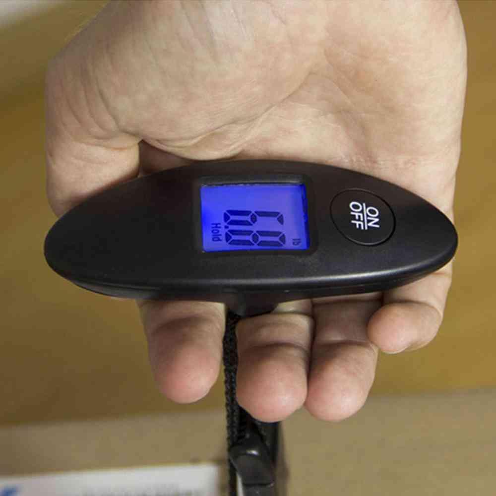 Digital Electronic Handled Travel Bag Weighting Fish Hook Hanging Scale