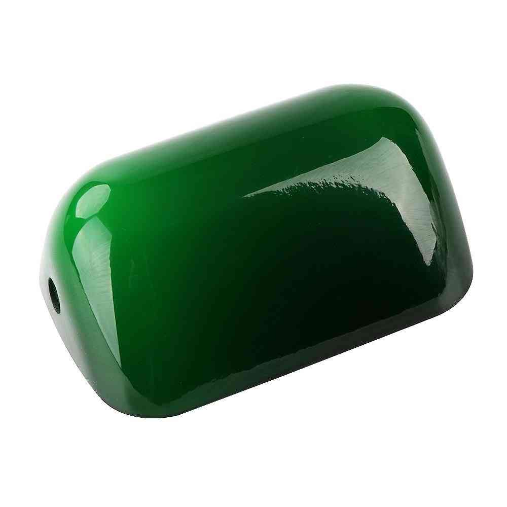 Glass Bankers Lamp Cover Bankers Lamp Green/white Glass