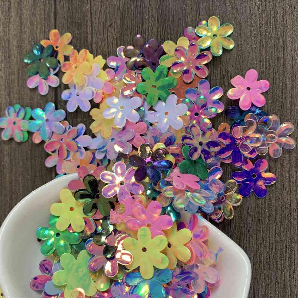 Hexapetalous Flowers Sequins Loose Diy Hat, Dress Hair Accessories