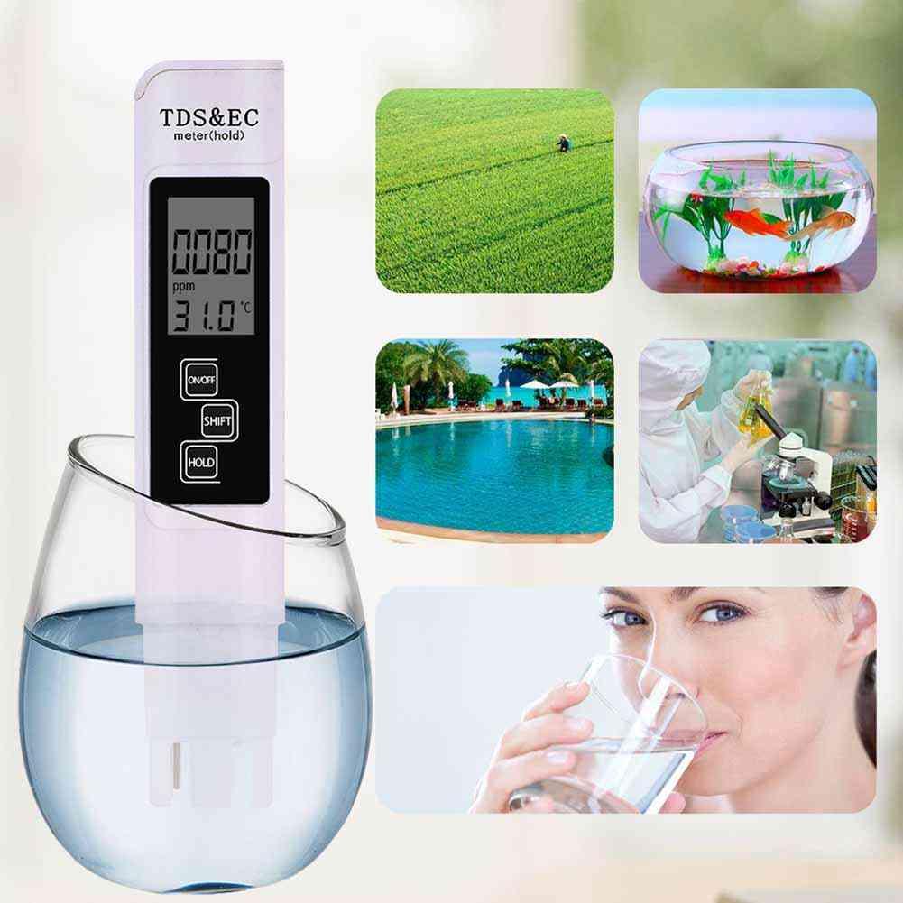 Temperature Digital Lcd Tester Pen Water Purity Filter / Meter Testing Pen Level Tester