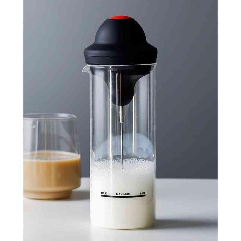 Handheld Electric Milk Frother Jug Cup, Stainless Steel Foamer, Mixer, Bubbler Coffee Blender, Kitchen Stirrer