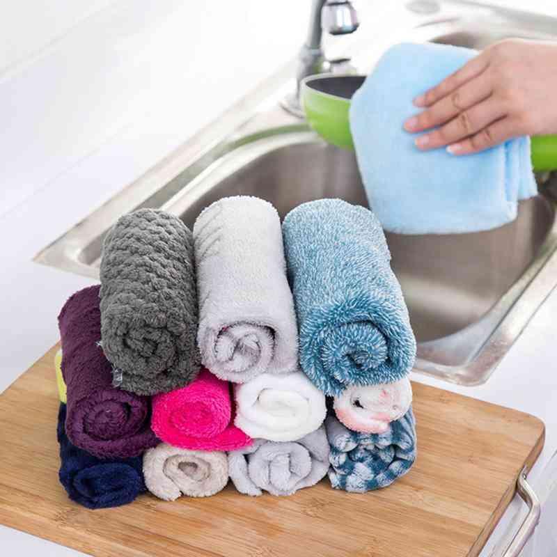 1pc Non-oil Towel Dish Cloth Fiber Cloth Soft Dish Towel