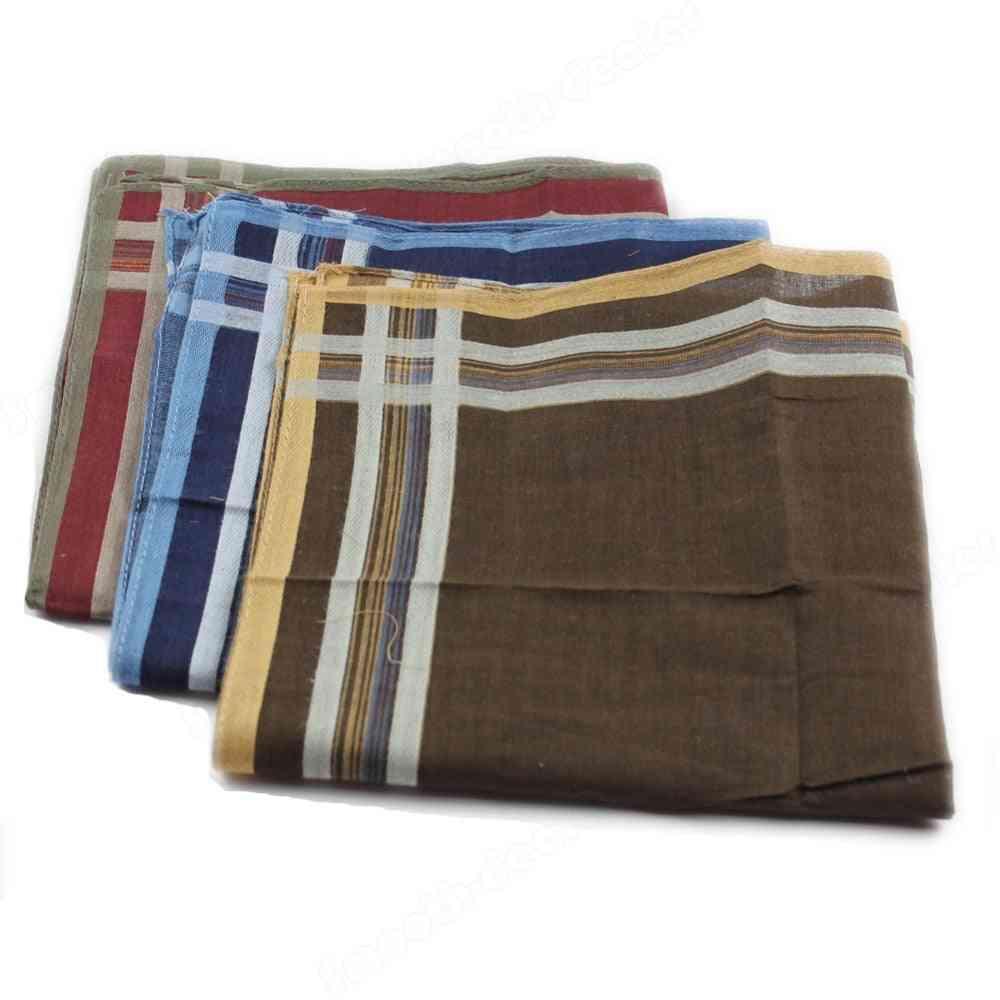 New Classic Plaid Handkerchief Comfort Soft Cotton Blend