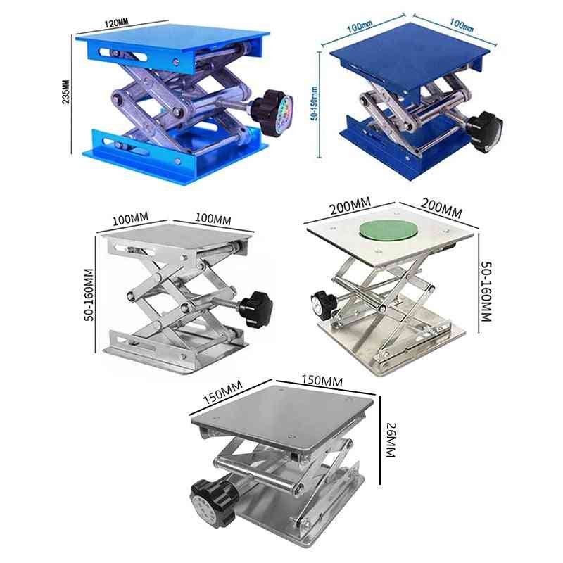 Woodworking Engraving Stainless Steel Metal Lab Lifting Stand Rack