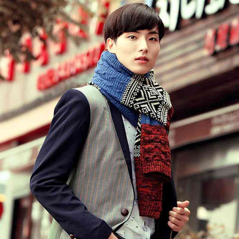 Winter Gentleman Fashion Casual Shawl Wrap Muffler