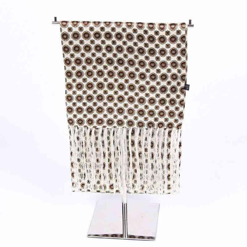 Winter Male Silk Long Cravat Bandana Tassel Scarf