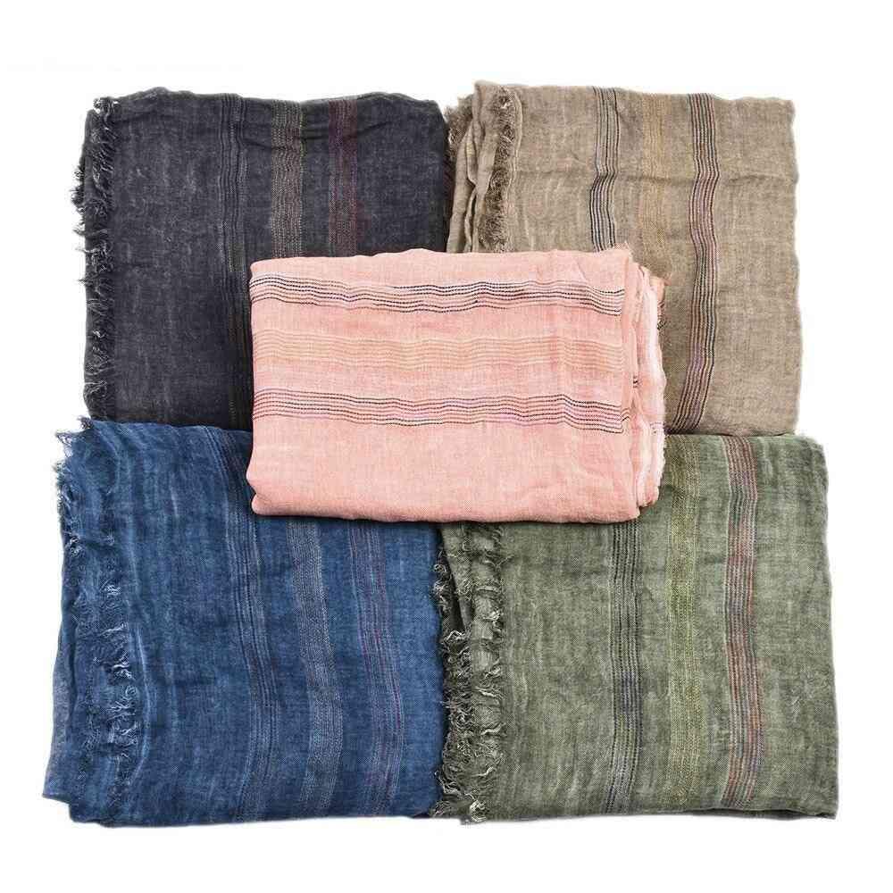 Autumn Winter Cotton Linen Scarf
