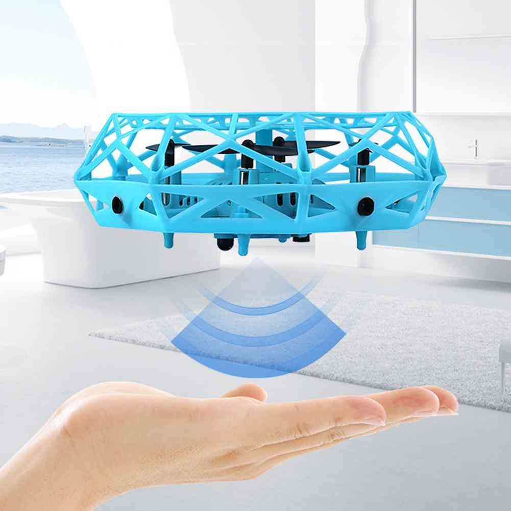 Mini Drone Infrared Induction Hand Control Flying Aircraft Toy Action Figure