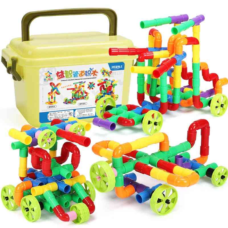 Marble Race Run Building Block Compatible Blocks With Wheel Diy Creative Bricks Educational