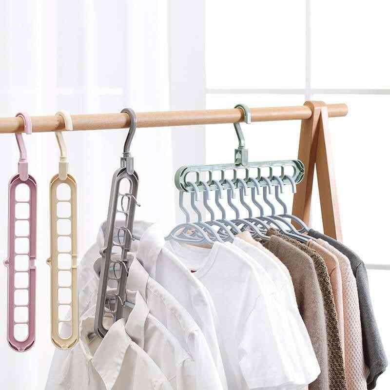 Multi-function Nine-hole Rotating Magic Hanger