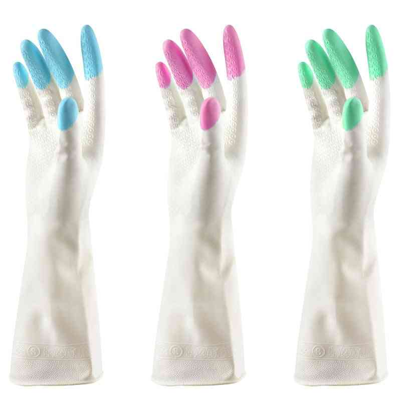 Long Sleeve Latex Kitchen Wash Dishes Dishwashing Gloves