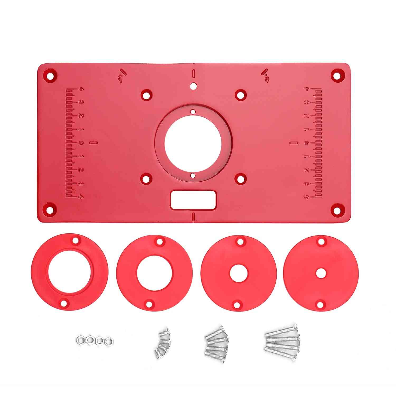 Multifunctional Router Table Aluminum Alloy Insert Plate Woodworking Benches 235x120x8mm Carpentry Trimming Machine For Woodwork