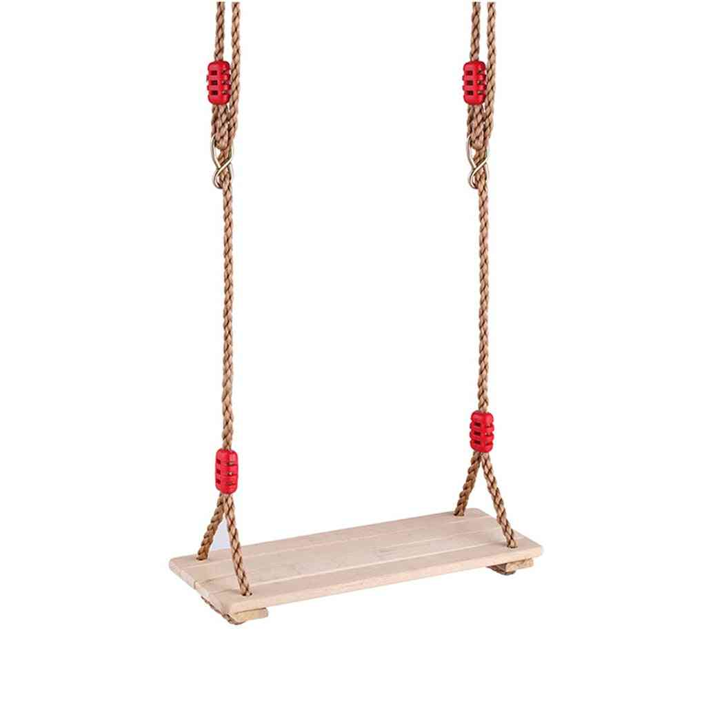 Adjustable Rope Wooden Flat Swing Seat Garden & Patio Hanging Summer Outdoor Sports Game Toy