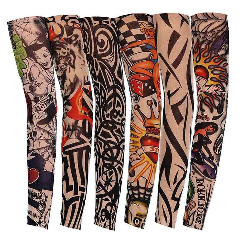 Cool Tattoos Unisex Elasticity Cover Uv Sun Protection Arm Sleeves