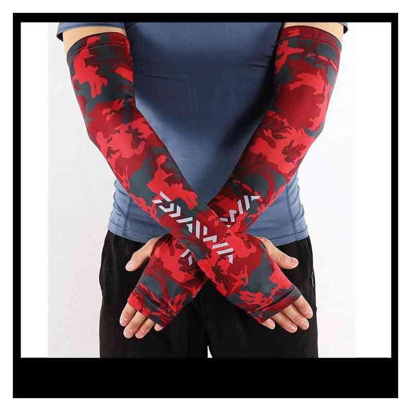 Summer Uv Sun Protection Fingerless Glove Arm Warmers Cover