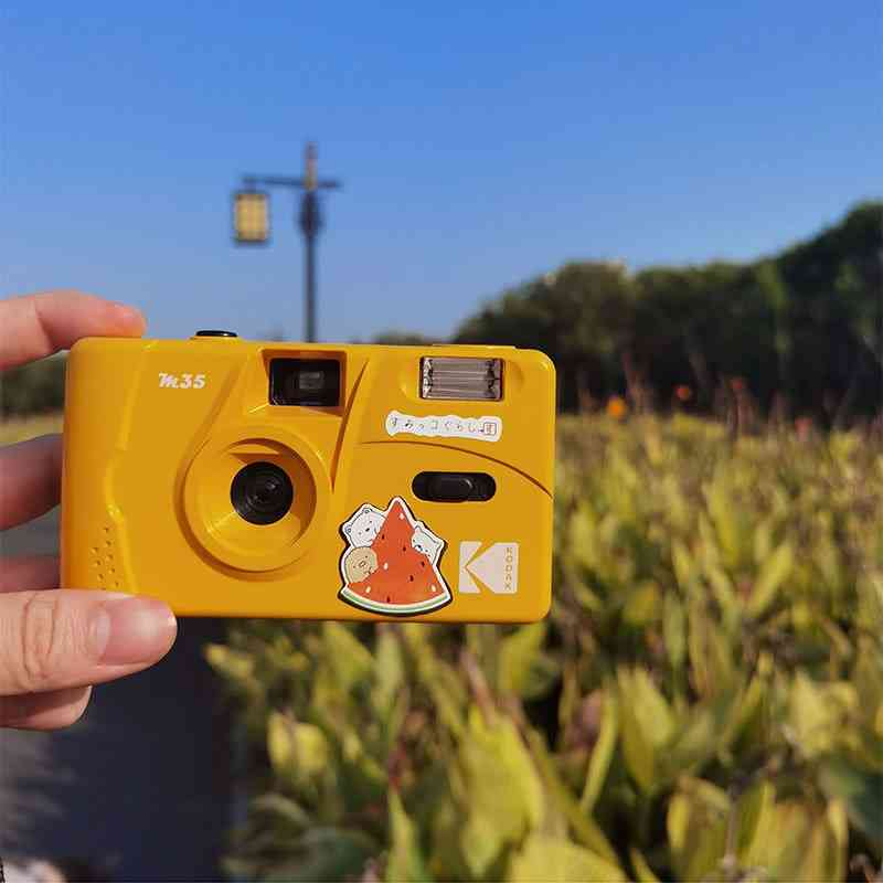 Vintage Retro M35 35mm Reusable Film Camera Yellow / Mint Green / Blue /pink/ Red With Kodak Fuji Film