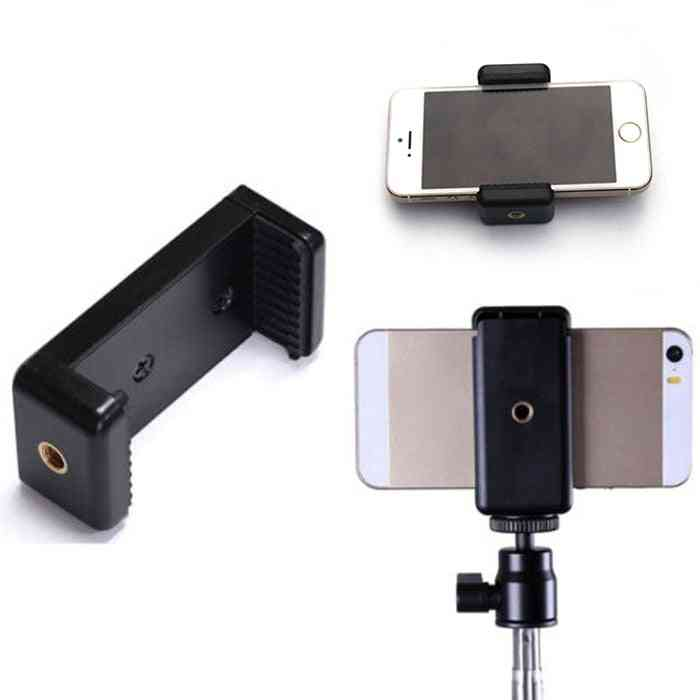 Universal Monopod Holder Clip Mobile Bracket For Camera Tripod Mount Holder Stand Iphone/samsung/xiaomi Phone