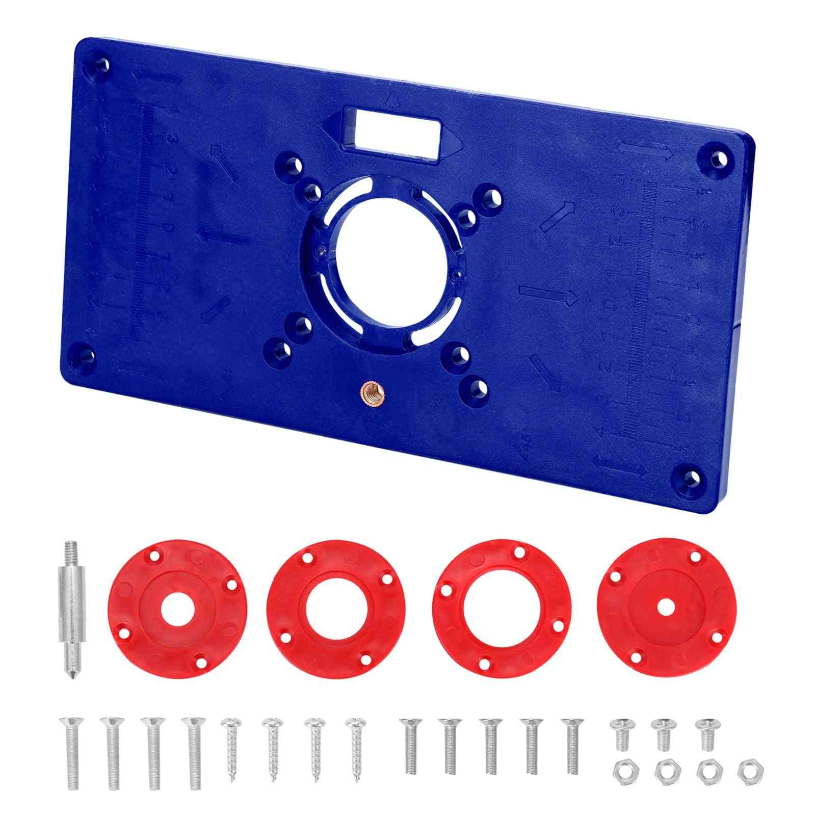Multifunctional Router Table Plate With 4 Rings