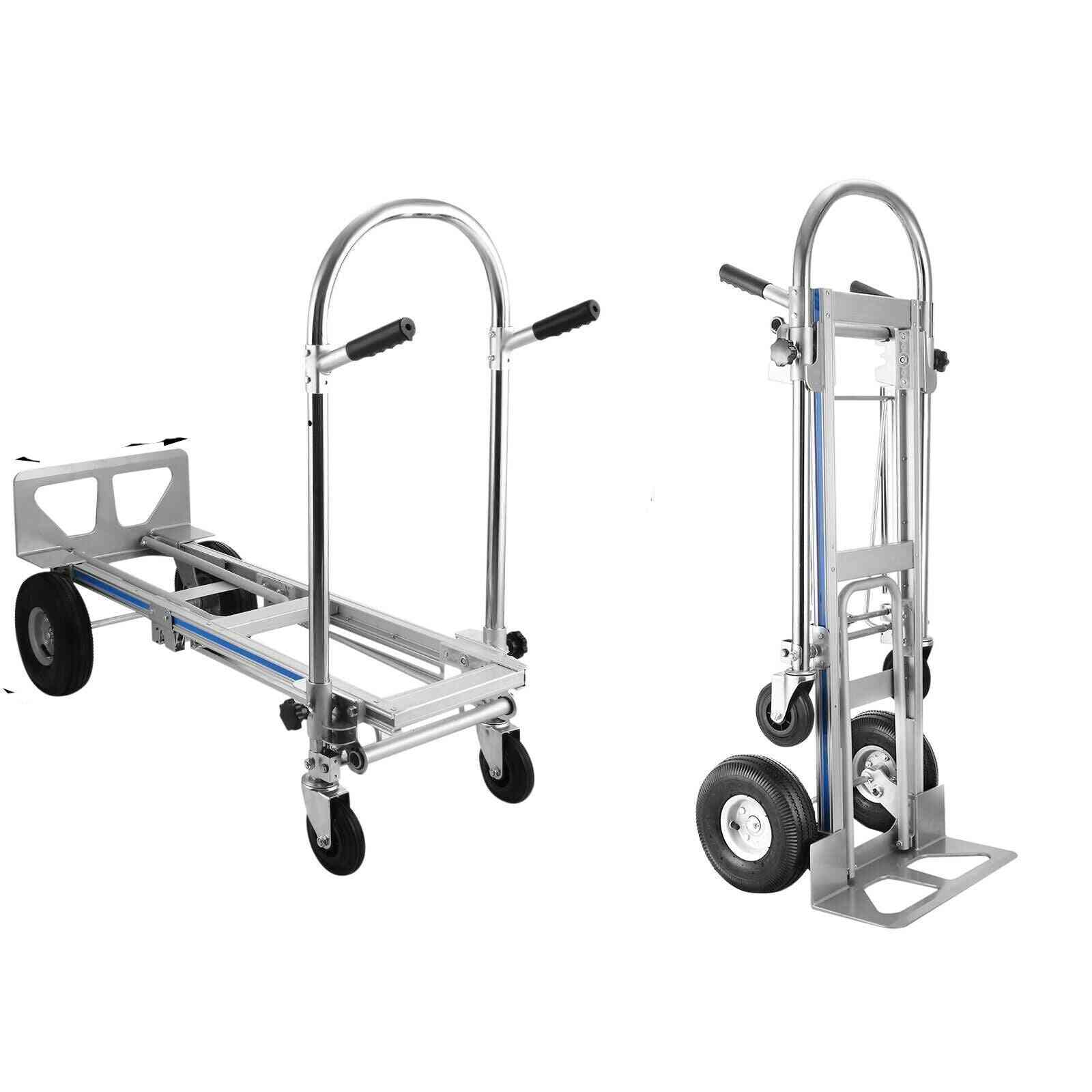 3-in-1 Aluminum Hand Truck Foldable Dolly Cart 1000 Lb Capacity New Converts Regular Dolly Stair Climber