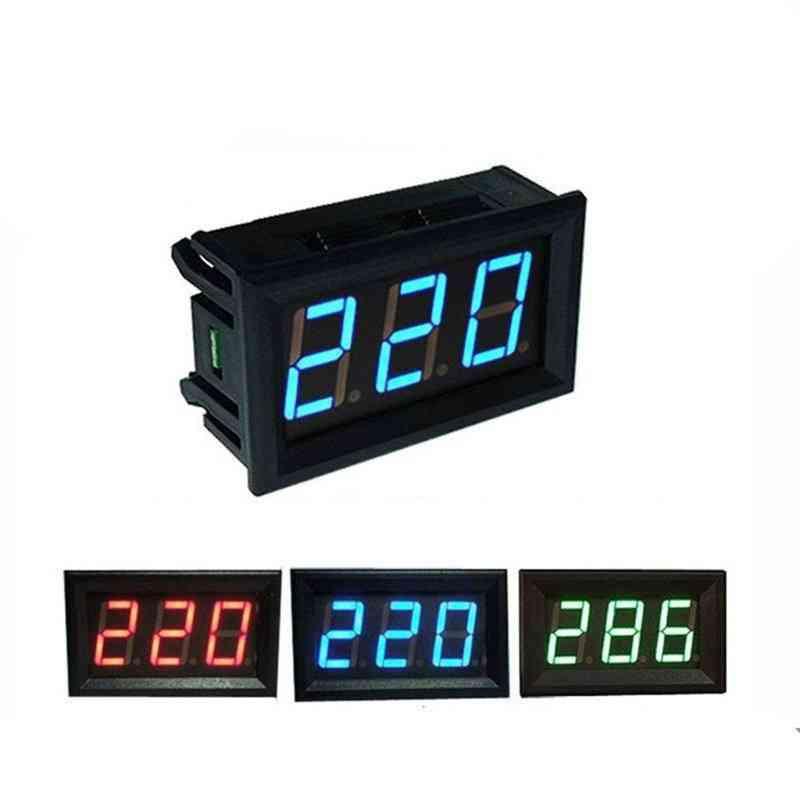 Led Digital Voltmeter Volt Instrument Tool