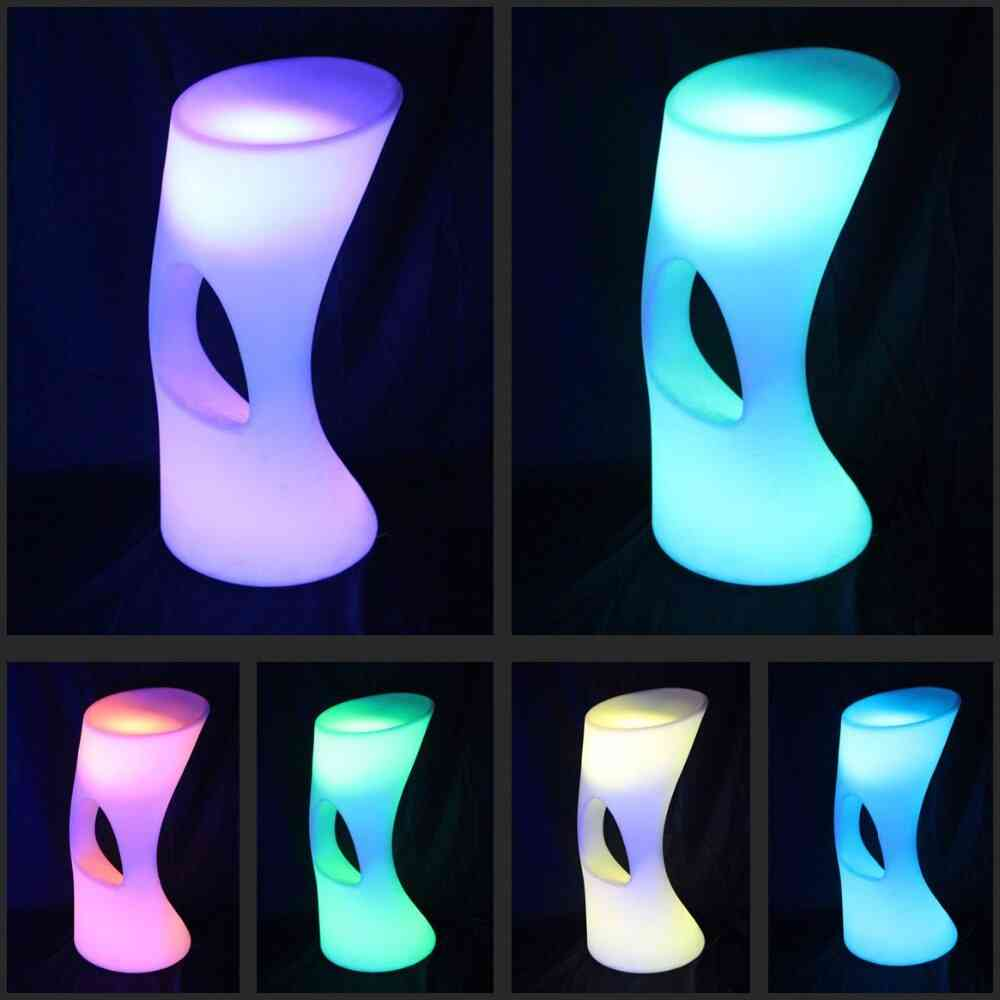 Rechargeable Led Illuminated Cocktail Bar Table