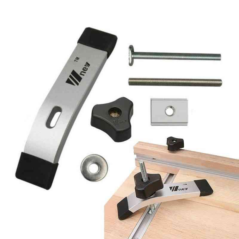 T Track Slider M8 T Screw M8 Nut Saw Table Acting Hold Down Clamp