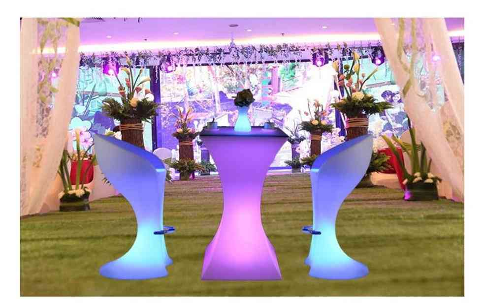 Waterproof Round Glowing Led  Bar Table
