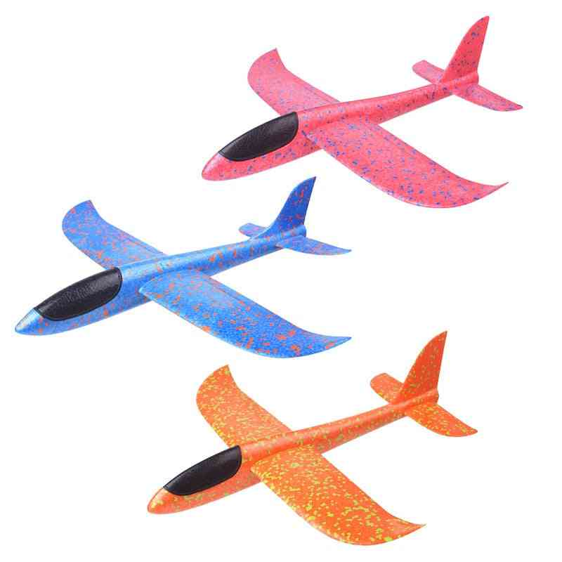 38cm Good Quality Hand Launch Throwing Glider Aircraft Inertial Foam Epp Airplane Toy Plane Model Outdoor Toy Educational