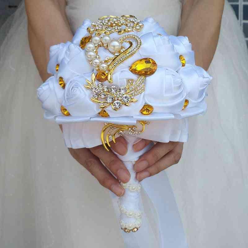 White Wedding Pearl Decoration Bridal Bouquet