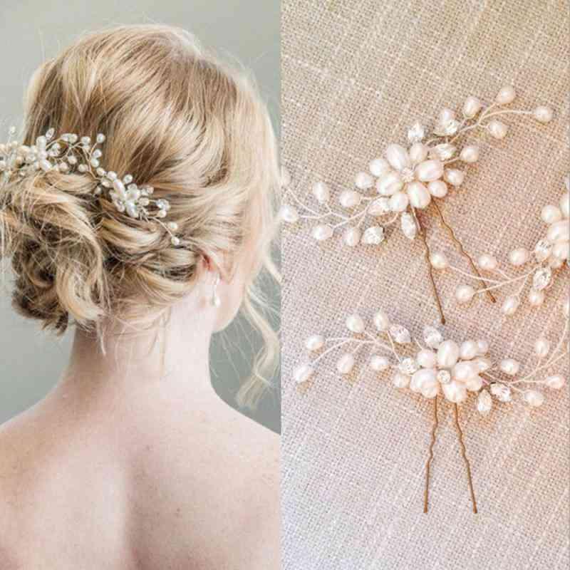 Wedding Hair Accessories Crystal Pearl Hair Belt