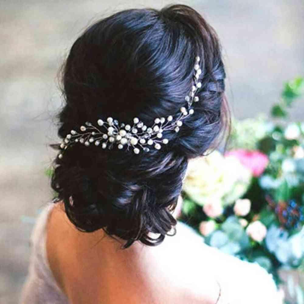 Silver Pearl Hair Comb Elegant Women Wedding Hair Accessories