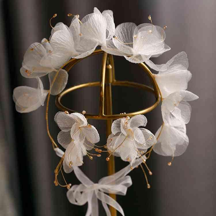 Exterior Style Beautiful Silk Yarn Flower Headband