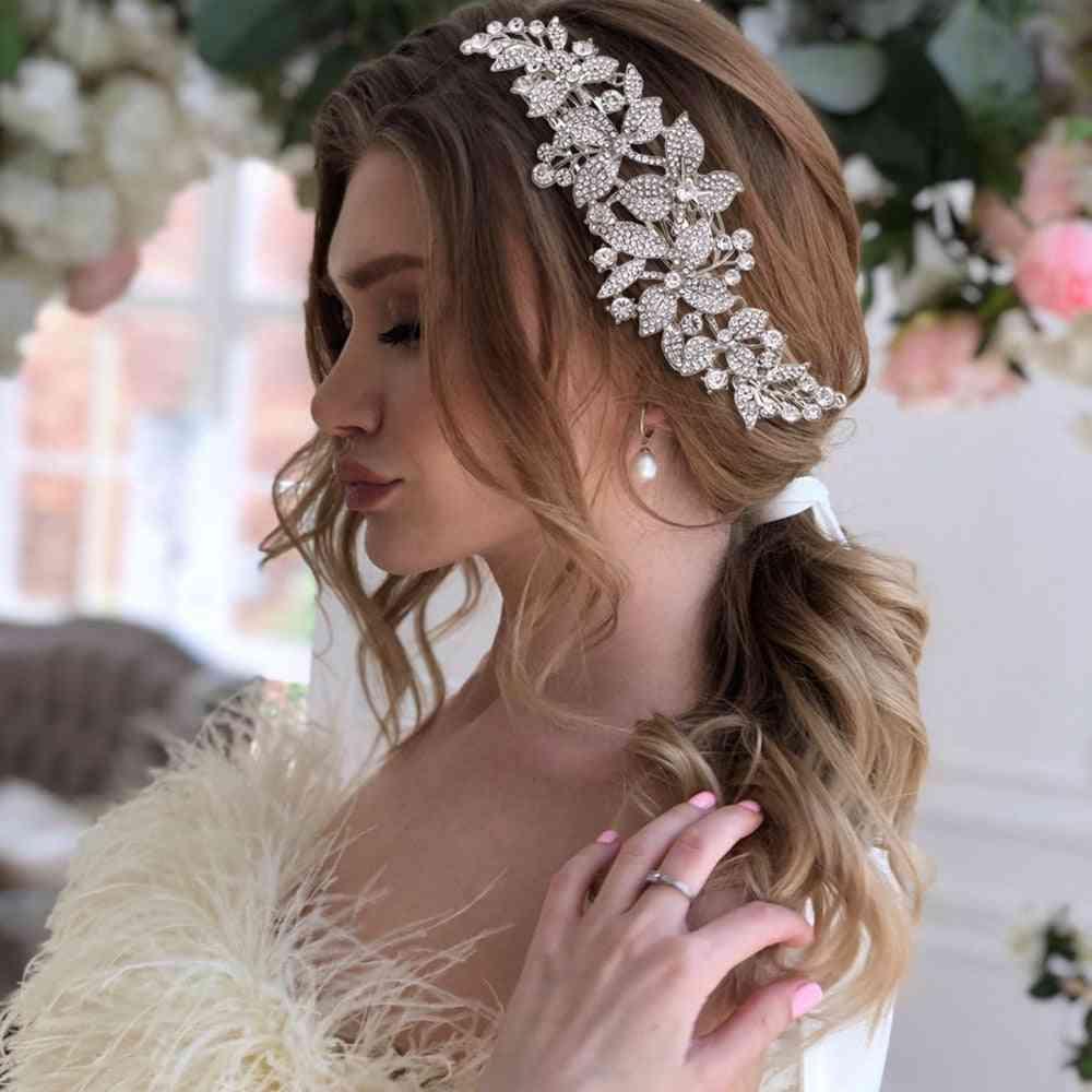 Alloy Flower Headband Bridal Headpieces Crown