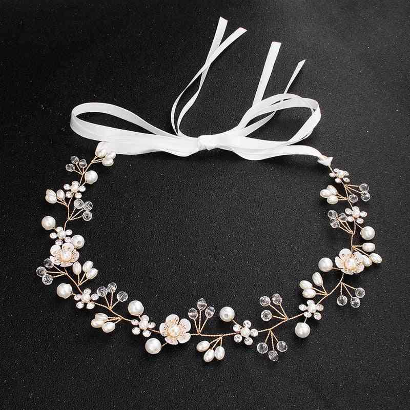 Crystal Pearl Bride Hair Band Wedding Accessories