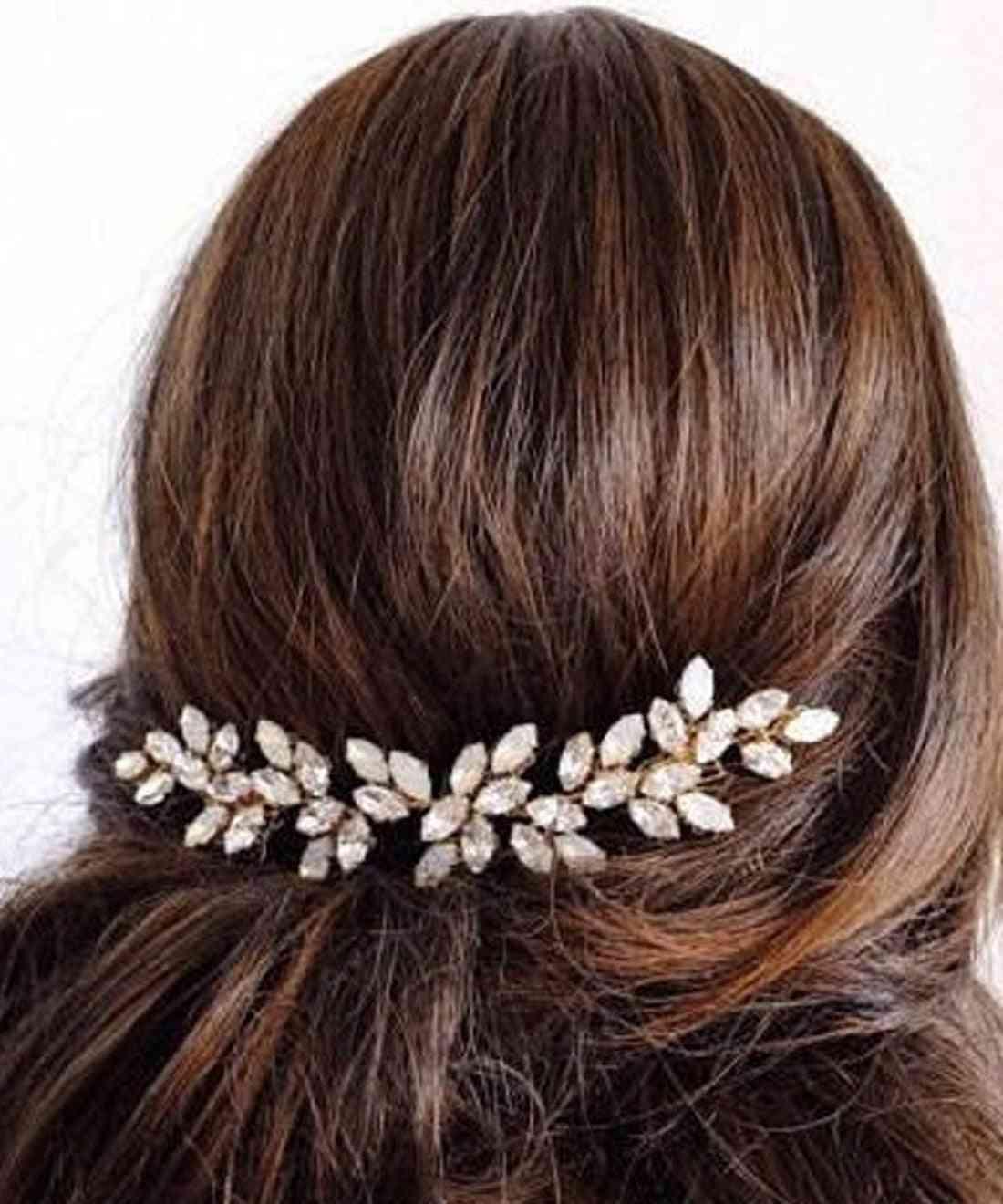 Silver Gold Bridal Rhinestones Wedding Hair Accessories