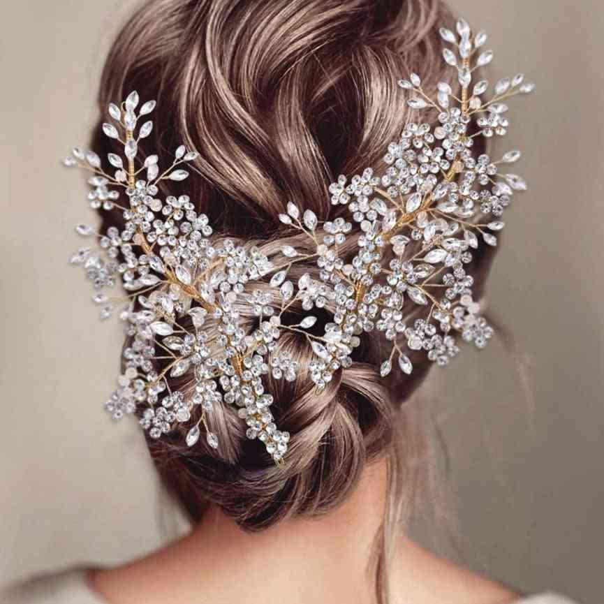 Wedding Vine Gold Wedding Rhinestone Headbands